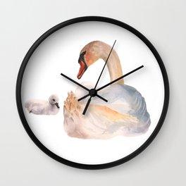 Swan Sweetness Wall Clock