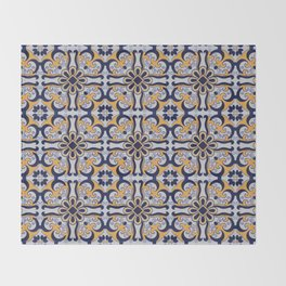 Portuguese tile Throw Blanket