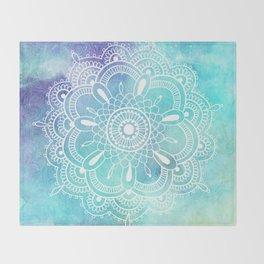 Galaxy Mandala - Watercolor Throw Blanket