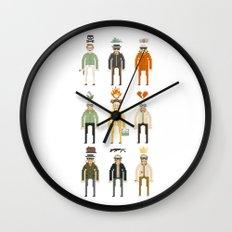 Walter White Pixelart Transformation- Breaking Bad Wall Clock