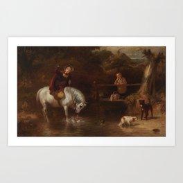 James Ward 1769 - 1859 CONFRONTATION AT THE CROSSING Art Print