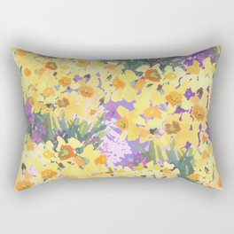 Yellow Daffodil Garden Rectangular Pillow