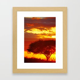 Glowing African Morning Framed Art Print