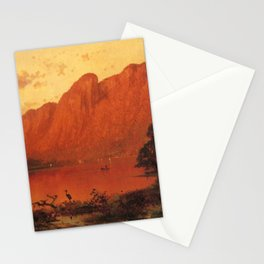 Profile Peakk From Profile Lake New Hampshire 1869 By Thomas Hill | Reproduction Stationery Cards