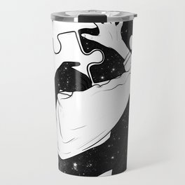 The puzzle love. Travel Mug