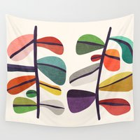plant Wall Tapestries featuring Plant specimens by Picomodi
