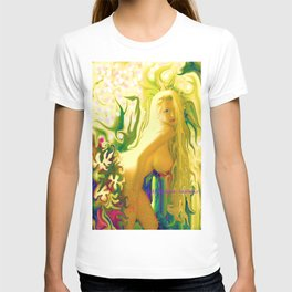 sexy blond Nude ladygodiva ladykashmir  T-shirt