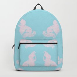 Grapefruit Cat - Lighten on Blue Backpack