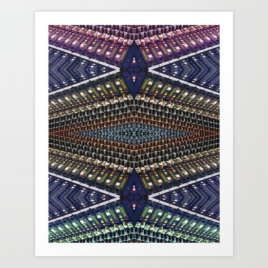 Mixer Matrix  Art Print