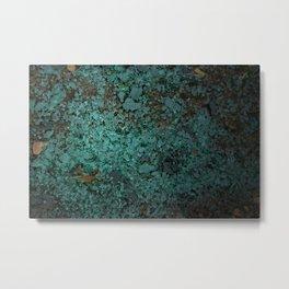 Turquoise Glass Metal Print