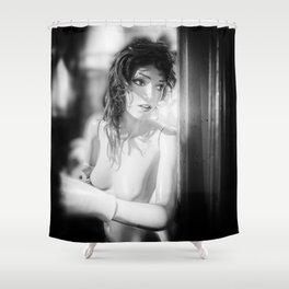 Sentient Fear and Confusion Shower Curtain