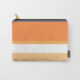 A rare fuse of Twilight, White, Topaz, Pale Orange and Royal Orange stripes. Carry-All Pouch