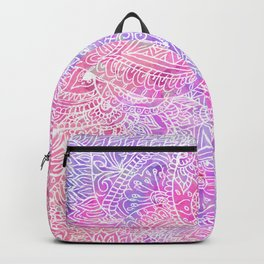 Pink Purple Paisley Love Backpack