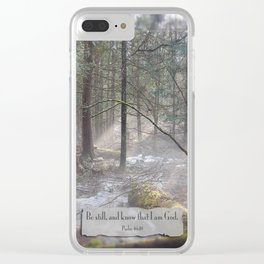 Still Woods Clear iPhone Case
