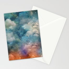 """""""Only in heaven, a sea of clouds"""" Stationery Cards"""