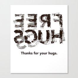 Hug back Canvas Print