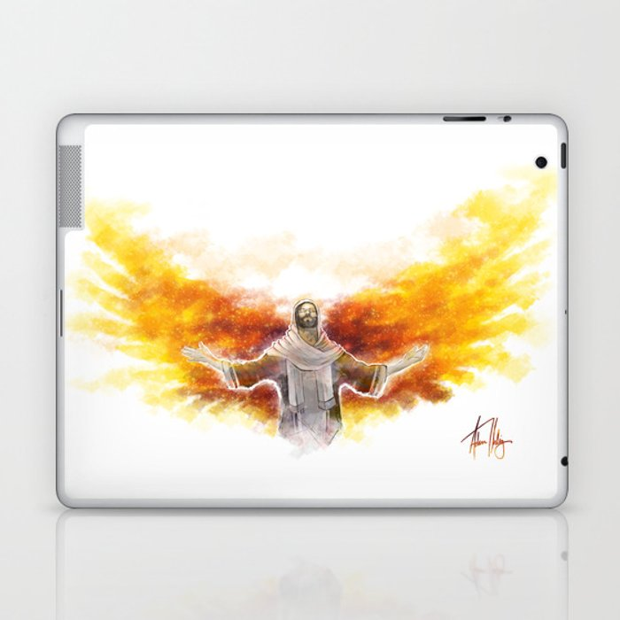 On Wings Like Eagles (Isaiah 40:31) Laptop & iPad Skin