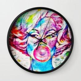 Bubble Gum Pop Art Wall Clock