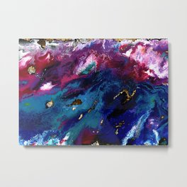 Brendon Urie abstract synesthetic painting Metal Print