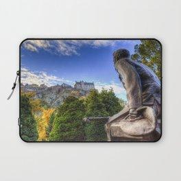 Scots American Memorial And Edinburgh Castle Laptop Sleeve