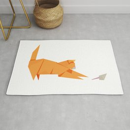 Origami Cat and Mouse Rug
