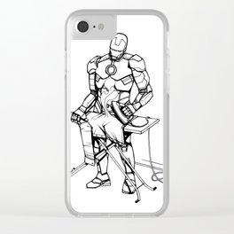 Iron(ing) Man Clear iPhone Case