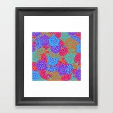 vibrant paisley Framed Art Print