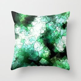 square fantasy snow in the treetops Throw Pillow