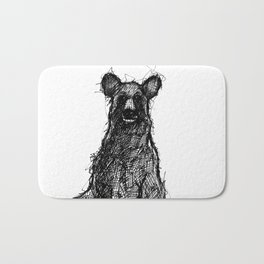 Black Bear Bath Mat