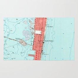 Vintage Seaside Heights NJ Map (1953) Rug