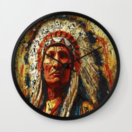 weathered chief Wall Clock