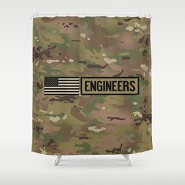 Engineers (Camouflage) Shower Curtain