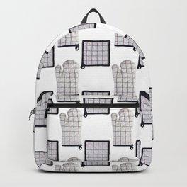 Oven Glove and Pot Mitt Holder Polka Dot Pattern Backpack