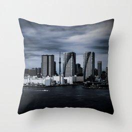 Turbulent Tokyo Throw Pillow