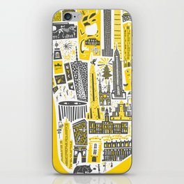 Manhattan New York Map iPhone Skin