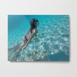 diving butt Metal Print