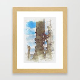 Venezia Navy Marine hoist a flag - SKETCH Framed Art Print