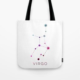 VIRGO STAR CONSTELLATION ZODIAC SIGN Tote Bag