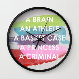 Sincerely yours, The Breakfast Club. Wall Clock