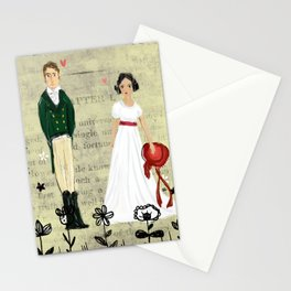 Mr.Darcy of Pemberley and Miss Bennet of Longbourn Stationery Cards
