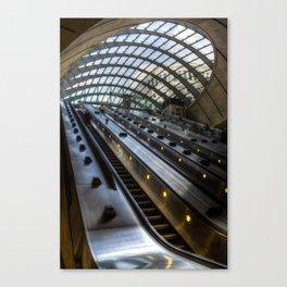 Canary Wharf Tube Escalator Canvas Print