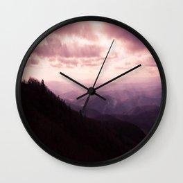 Purple Mountian Wall Clock