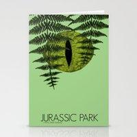 jurassic park Stationery Cards featuring Jurassic Park Minimalist by Kozicki Photography