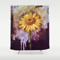 crocodile Shower Curtains featuring Crocodile Tears by George Michael Art