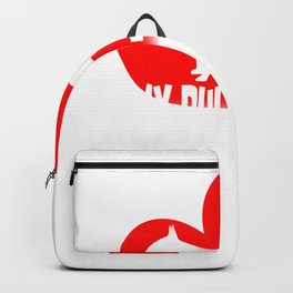 My Bull Terrier is My Valentine Funny Valentine's Design Backpack