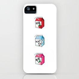 Kawaii Drink Cartons iPhone Case