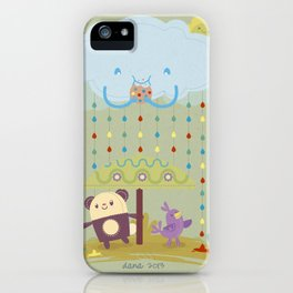 color raindrops keep falling on my head iPhone Case