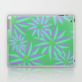 Green and Pink Small Bright Flowers Digital Pattern Laptop & iPad Skin