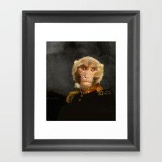Renaissance monkey Framed Art Print