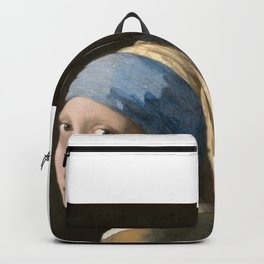 Girl with a Pearl Earring (1665), Old Masters Collection Backpack